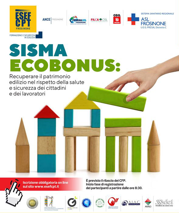 """Seminario """"Sisma EcoBonus"""", il 12 ottobre 2019 alle Fiere di Sora"""